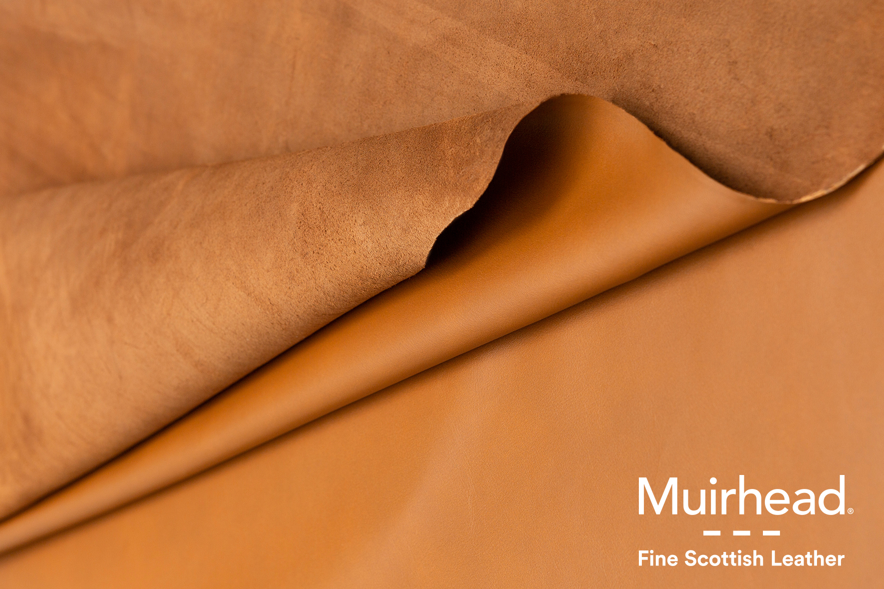 Muirhead leather with logo